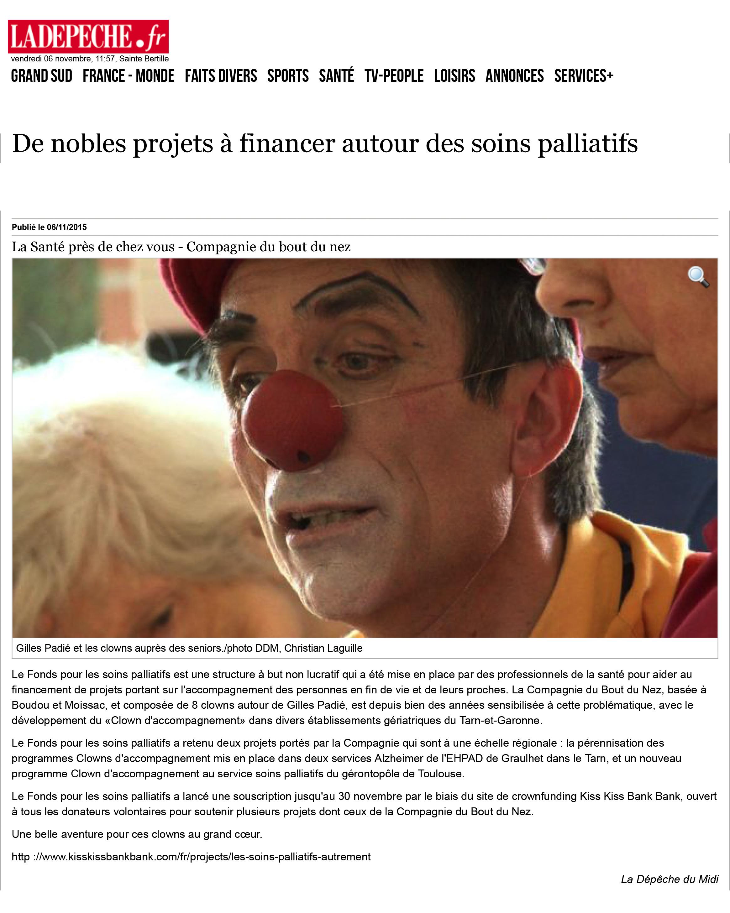 De nobles projets à financer autour des soins palliatifs - 06/1
